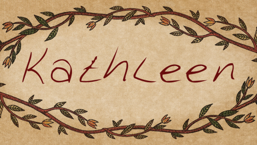 Download Kathleen cool free fonts