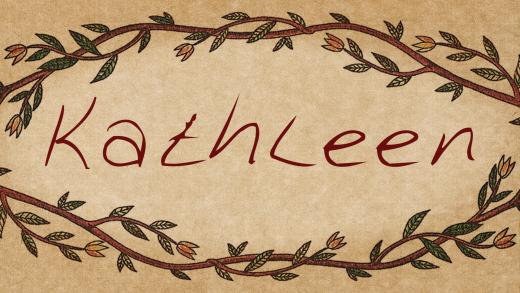 Download Kathleen cool free fonts