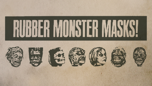Download Rubber Monster Masks cool free fonts