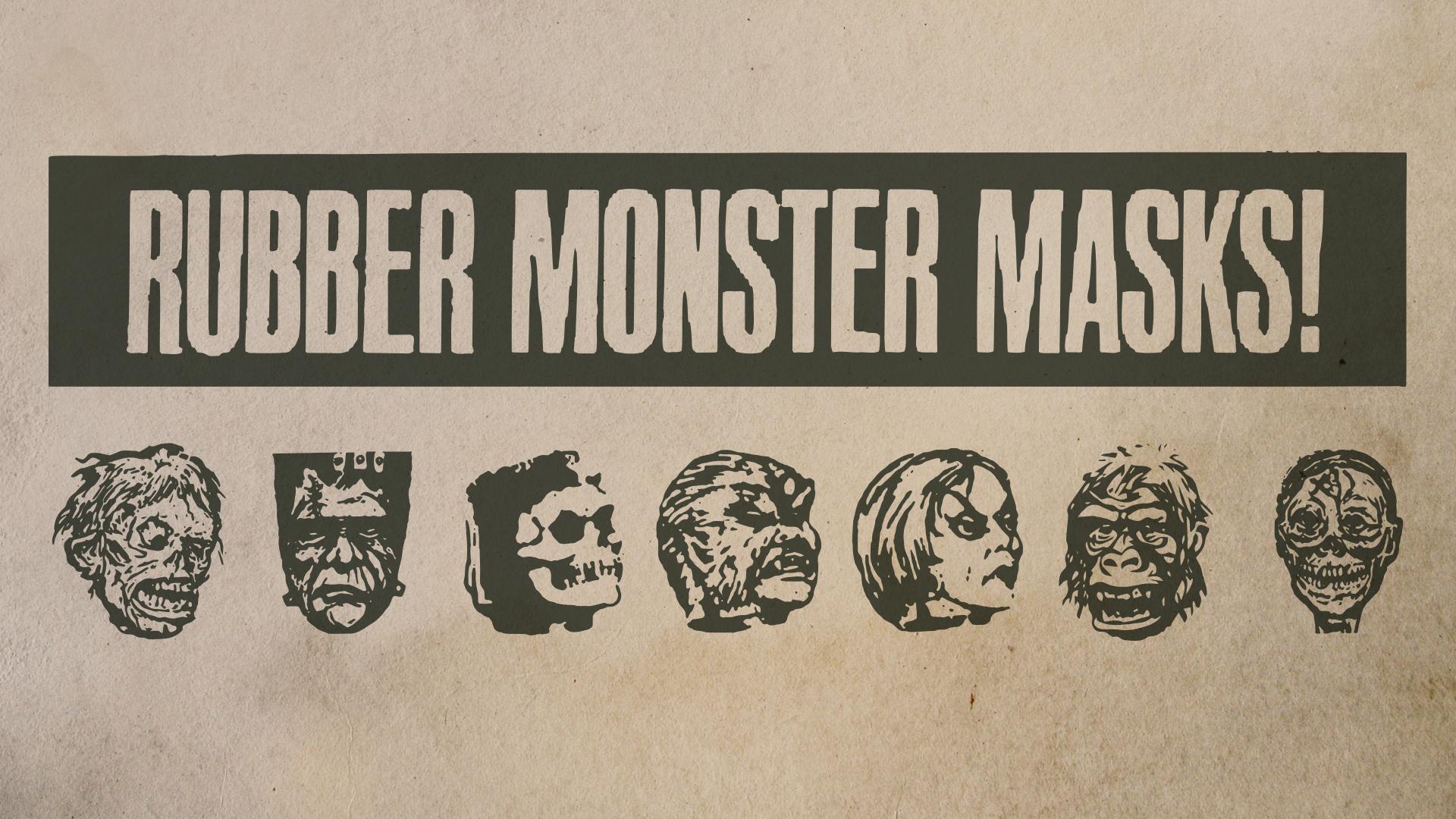 Download Rubber Monster Masks cool free fonts